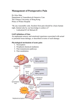 Factors Affecting the Postoperative Pain