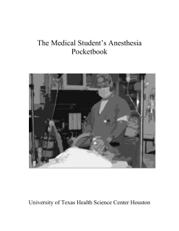 The Medical Student`s Anesthesia Pocketbook