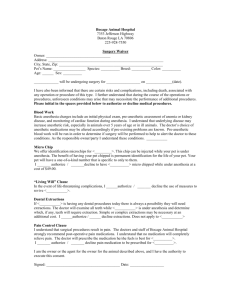 Surgery Waiver - Bocage Animal Hospital