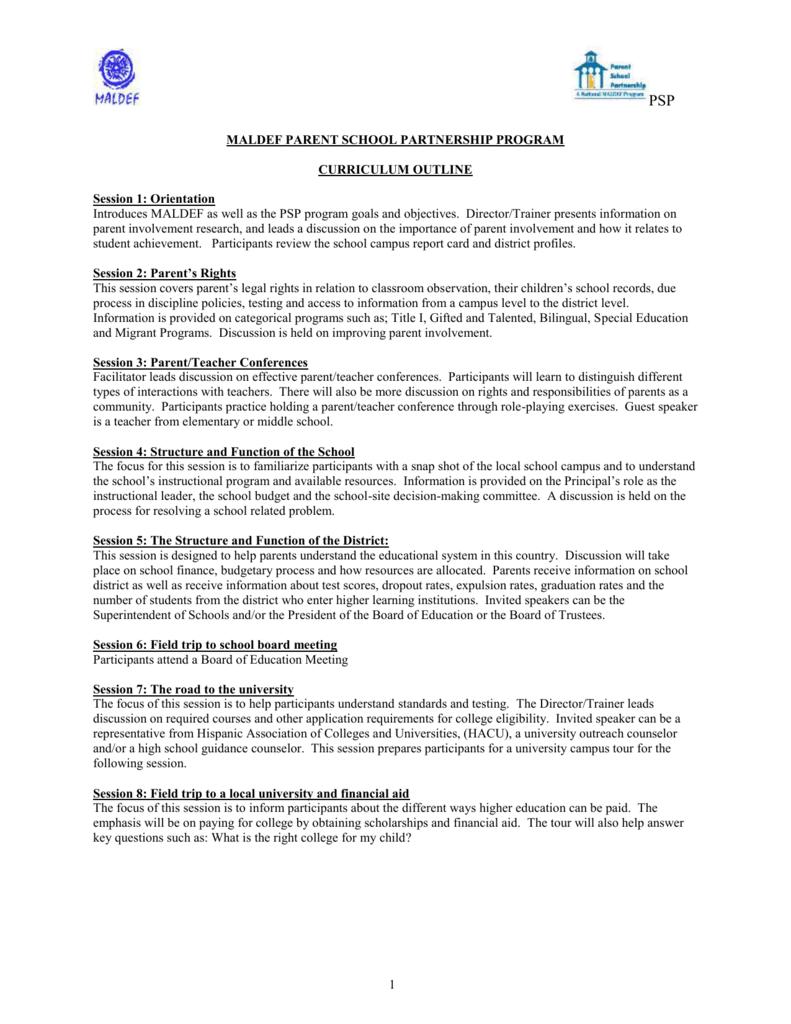 MALDEF PARENT LEADERSHIP PROGRAM