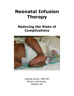 Neonatal IV Therapy - Emory University Department of Pediatrics