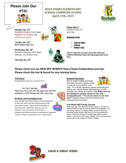 Parent Weekly Newsletter 4/27