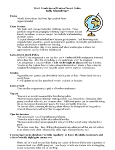 6th Grade Social Studies Parent-Student Guide