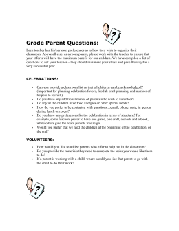 Grade Parent Questions