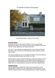 For Patients of Clarence Park Surgery