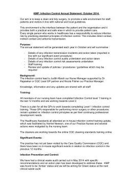 KMP - Infection Control Statement