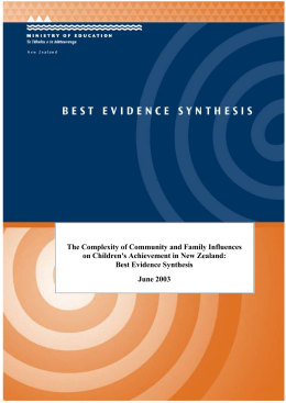 The complexity of community and family influences on children`s
