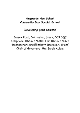 School Brochure - Kingswode Hoe School