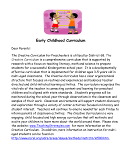 Creative Curriculum for Parents