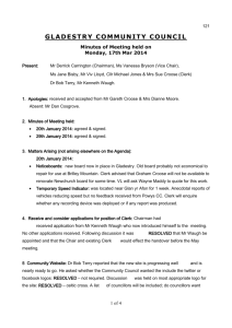Minutes of Community Council Meeting 17th March 2014