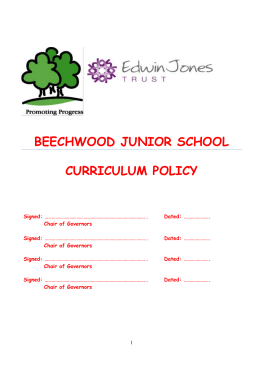 Our curriculum policy - Beechwood Junior School