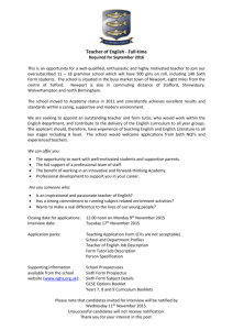 Vacancy Details - Newport Girls` High School