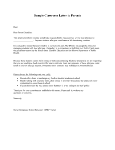 Sample Classroom Letter to Parents - Illinois State Board of Education