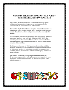 Parent Involvement Policy-District