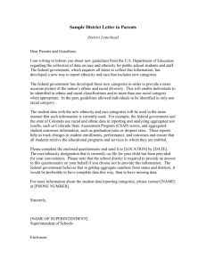 Sample District Letter to Parents - Colorado Department of Education
