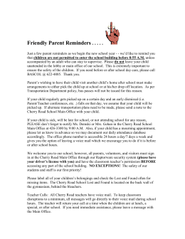 Friendly Parent Reminders - Westhill School District