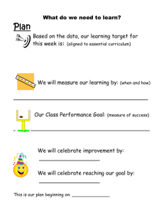 Classroom Action Plan for Mrs