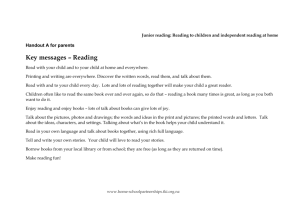 Handout A reading to children - NZ Curriculum Online