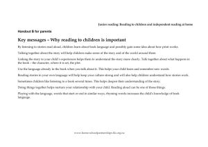 Handout B reading to children - NZ Curriculum Online