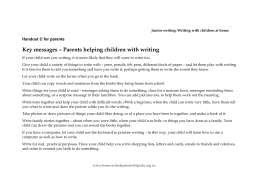 Junior writing: Writing with children at home