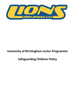 Junior Safeguarding Children Policy