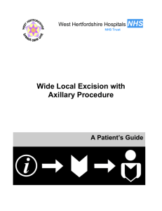 Wide local excision with axillary procedure