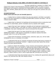 FLL STUDENT/PARENT CONTRACT