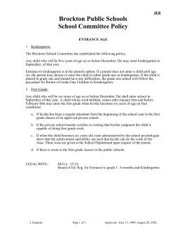 School Committee Policy - Brockton Public Schools