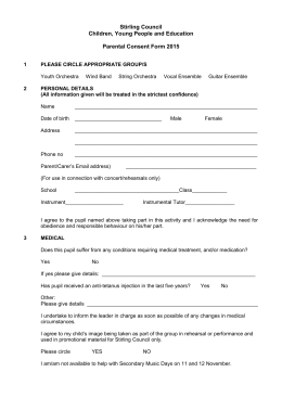 Parental Consent Form 2015