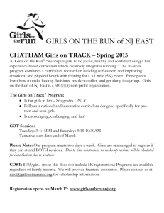 Girls on Track 2015 Flyer