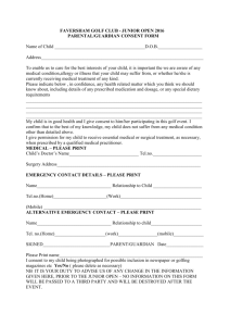 Junior Open 2016 Consent Form