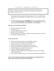 Standard 5 Leadership Contract