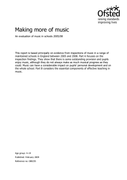 Making more of music - Leicestershire County Council