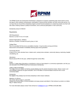 Republican Party of NM Growth and Achievement Scholarship