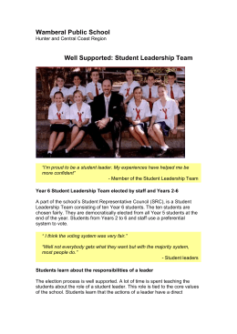Well Supported: Student Leadership Team