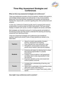 Three Way Assessment Strategies and Conferences