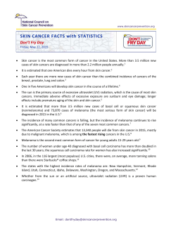 Skin Cancer Fact Sheet - Skin Cancer Prevention