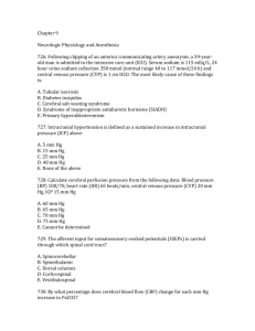 Neurologic Physiology and Anesthesia1 Questions from Board