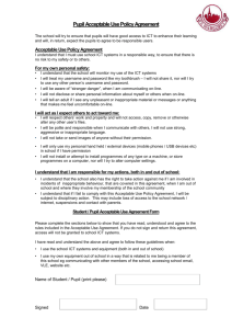 Pupil Acceptable Use Policy Agreement