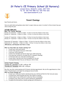 Parents Evenings letter 2015