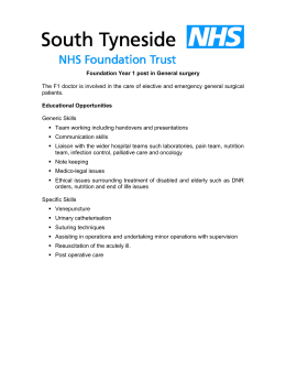 Foundation Year 1 placement in General surgery