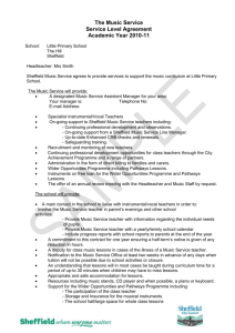 The Music Service Service Level Agreement Academic Year 2010