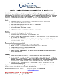 Junior Leadership Georgetown Application
