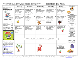Oro Grande School District/Riverside Preparatory Lunch Menu