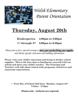 Parent Orientation Flyer 15