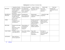 Kindergarten Vocal Music Curriculum Map