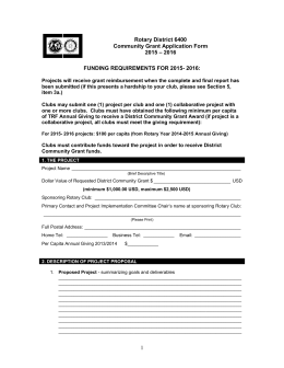 Community Grant Application Form