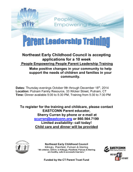 Parent Leadership Workshop