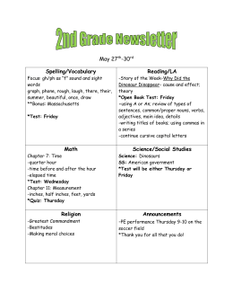 2nd grade newsletter may 27th