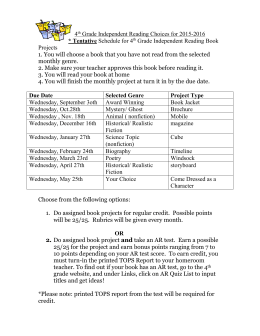 4th Grade Independent Reading Choices for 2005-2006